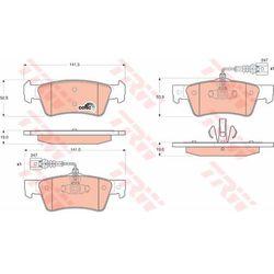 KLOCKI HAM TRW GDB1672 VW TOUAREG 2.5TDI R5 03-, 3.6FSI V6, 4.2FSI V8 06-