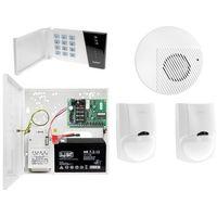 Zestawy alarmowe, Zestaw alarmowy domu Płyta główna CA-4 VP Manipulator CA-4 VKLED 2x Czujka ruchu LC-100 PET do 25kg Sygnalizator wewnętrzny