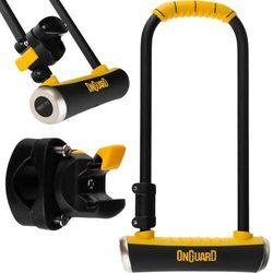 Zapięcie U-lock ONGUARD Pitbull LS 8002 czarny-żółty / Rozmiar: 11 x 29 cm