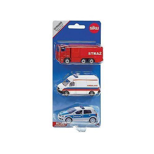 Ambulanse dla dzieci, SIKU zestaw ratowniczy - ambulans, policja, straż pożarna
