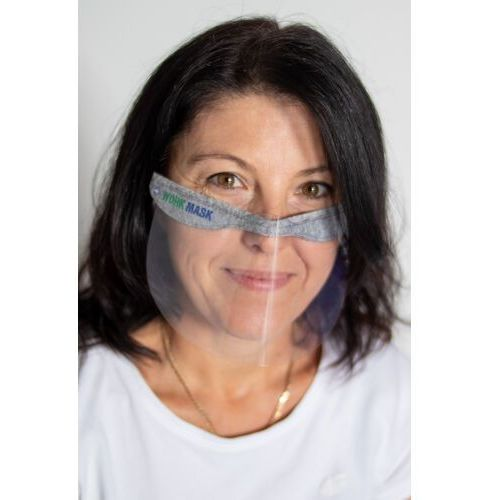 Maski antysmogowe, Mini przyłbica Work Mask Mini Shield ochronna 2 szt.   Oryginalny produkt Med Mask polska produkcja