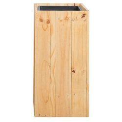 Doniczka drewniana prostokątna 28 x 28 x 60 cm SYKIA