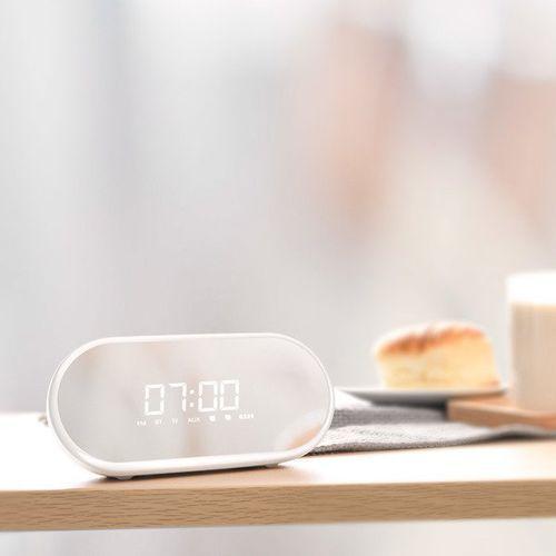 Zegary, Baseus Encok E09 | Wielofunkcyjny głośnik bezprzewodowy bluetooth zegar budzik - Biały