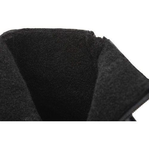 Kozaki męskie, Trzewiki ocieplane Kozaki Badura 5260-372 Czarne