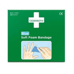 Bandaż z pianki Cederroth Soft Foam Bandage Blue 6 szt x 4,5m