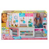 Kuchnie dla dzieci, Barbie Idealna kuchnia z lalką FRH73