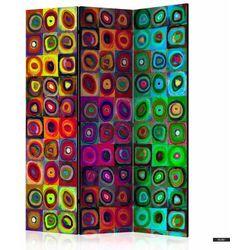SELSEY Parawan 3-częściowy - Kolorowy abstrakcjonizm