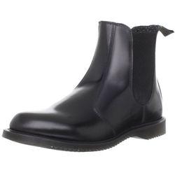 Dr. martens Flora Polished Smooth damskie sztyblety Chelsea Boots - czarny - 38 EU