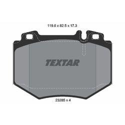 Zestaw klocków hamulcowych, hamulce tarczowe TEXTAR 2328501