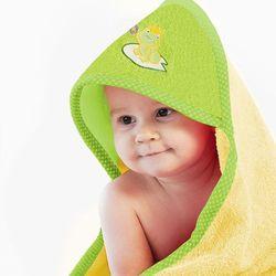 Ręcznik z kapturkiem 90x90 ZWOLTEX żaba żółta