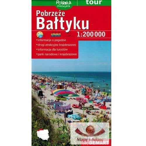 Mapy i atlasy turystyczne, Pobrzeże Bałtyku. Mapa turystyczna foliowana