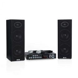 Auna Karaoke Star 4 zestaw do karaoke 2 x 80W BT port USB 2 x mikrofon bezprzewodowy