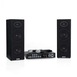 Karaoke Star 4 zestaw do karaoke 2 x 80W BT port USB 2 x mikrofon bezprzewodowy