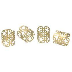 Dekoria Obrączki na serwetki Sari gold 4szt., 5×5×18cm