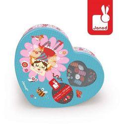 Janod - Zestaw do tworzenia biżuterii 250 koralików Dziewczynka
