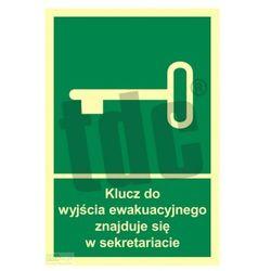 Klucz do wyjścia ewakuacyjnego znajduje się w sekretariacie Art. AC033