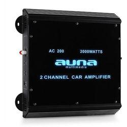 2-kanałowy wzmacniacz samochodowy Auna 2000W Akryl