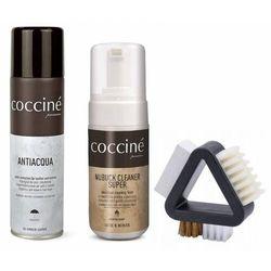 Zestaw do czyszczenia butów zamsz nubuk coccine szczotka + pianka + impregnat