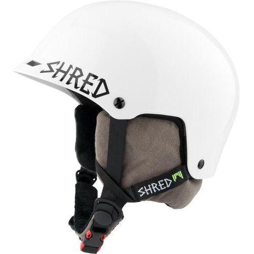 Kaski i gogle, SHRED HALF BRAIN D-LUX BLEACH WHITE - kask snowboard rolki rower R. XS/M 52-56 CM