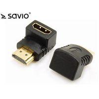 Kable, adaptery, taśmy, SAVIO ADAPTER HDMI (F)-HDMI (M) -KĄTOWY CL-112