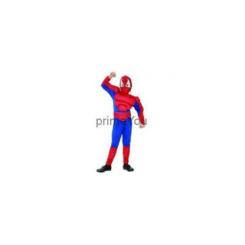 Przebrania dziecięce, Kostium dziecięcy Człowiek Pająk - Spiderman z mięśniami - L - 131/140 cm