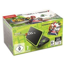 Nintendo New 2DS XL - Black & Lime Green (Mario Kart 7 Bundle)