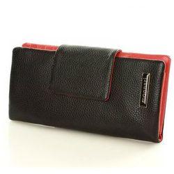 Skórzany portfel damski organizer 0930A Black - Monnari