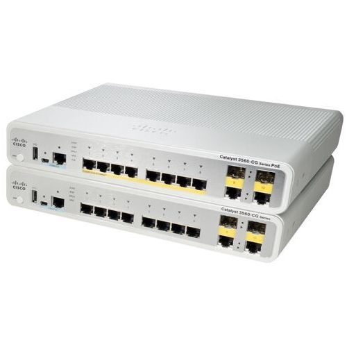 Switche i huby, WS-C3560CG-8TC-S Switch Cisco Catalyst 3560C 8 GE, 2 x Dual Uplink, IP Base