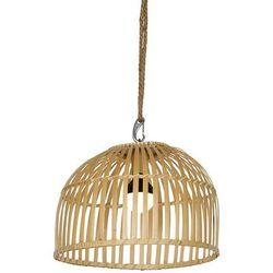 Zewnętrzna lampa wisząca bambusowa IP44 ze ściemniaczem LED RGB - Maurice