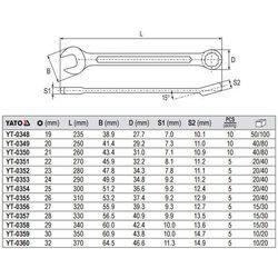 Klucz płasko-oczkowy z polerowaną główką 19 mm Yato YT-0348 - ZYSKAJ RABAT 30 ZŁ