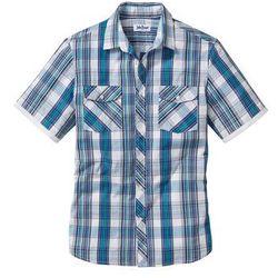 Koszula z krótkim rękawem Regular Fit bonprix biały w kratę