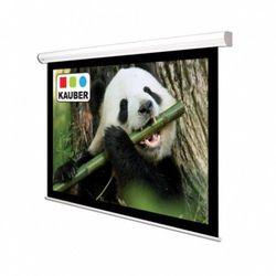 Ekran ścienny elektrycznie rozwijany Kauber White Label 220x124cm, 16:9, Matt White Plus