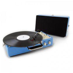 Auna Nostagy Buckingham gramofon walizkowy retro AUX niebieski