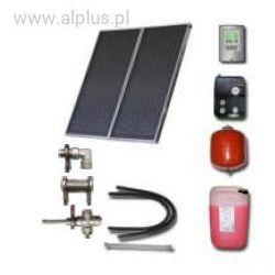 Zestaw solarny dla 2-3 osób 2xkolektory słoneczne POLSKIE meandryczne z absorberem aluminiowym