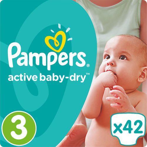 Pieluchy jednorazowe, PAMPERS Active Baby pieluchy 3 Midi 42szt pieluszki | DARMOWA DOSTAWA OD 150 ZŁ! - BEZPŁATNY ODBIÓR: WROCŁAW!