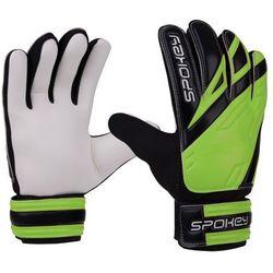 Rękawice bramkarskie SPOKEY Hold (rozmiar 4) Czarno-biało-zielony