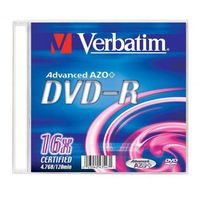 Płyty CD, DVD, Blu-ray, Płyta VERBATIM DVD-R 4.7GB 16x Slim