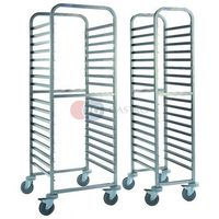 Wózki na żywność, Wózek transportowy 17-półkowy regałowy do tac i pojemników GN CGA-11
