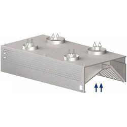 Okap przyścienny skrzyniowy kompensacyjny 1500x1200x450 mm   STALGAST, 9821312150