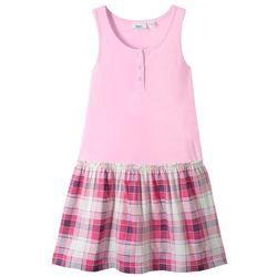 Sukienka shirtowa bonprix jasnoróżowy kryształowy