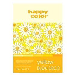 Blok Deco Yellow A4, 5 kolorów tonacja żółta 5 sztuk. Darmowy odbiór w niemal 100 księgarniach!