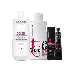 Goldwell Topchic, zestaw do koloryzacji włosów: farba + oxydant + szampon