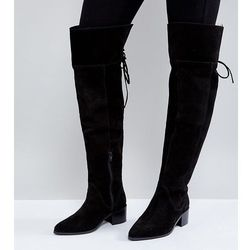 ASOS KOBRA Wide Fit Suede Over The Knee Boots - Black