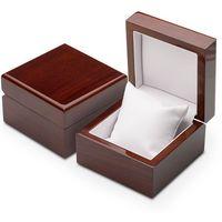 Opakowania prezentowe, Luksusowe pudełko drewniane jubilerskie na bransoletkę - ciemny brąz.