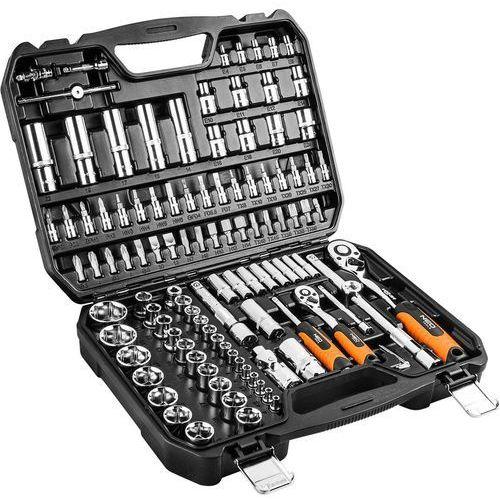 Zestawy narzędzi ręcznych, Zestaw kluczy nasadowych NEO 08-666 1/2 i 1/4 cala (110 elementów) + DARMOWY TRANSPORT!