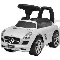 vidaXL Mercedes Benz - samochód zabawka dla dzieci napędzany nogami biały Darmowa wysyłka i zwroty