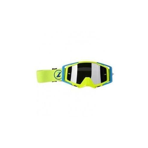 Gogle i okulary motocyklowe, LAZER Goggle Race Style Mirror Yellow Fluo Blue Y