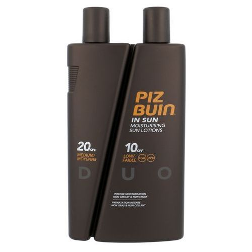 Kosmetyki do opalania, Piz Buin In Sun Lotion DUO SPF10 + SPF20 300ml W Opalanie