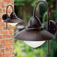 Lampy ścienne, EGLO 88709 - Kinkiet zewnętrzny SIDNEY E27/6W antyczny brąz - darmowe LED żarówki