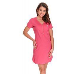 Bawełniana koszula nocna damska Dn-nightwear TCB.9505 koralowa